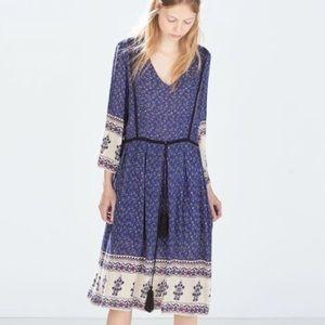 Zara patterned boho dress